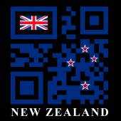 New Zealand QR code flag vector illustration