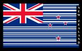 New Zealand barcode flag vector illustration