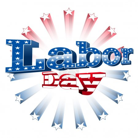 Illustration for Labor Day, United States of America, vector illustration - Royalty Free Image