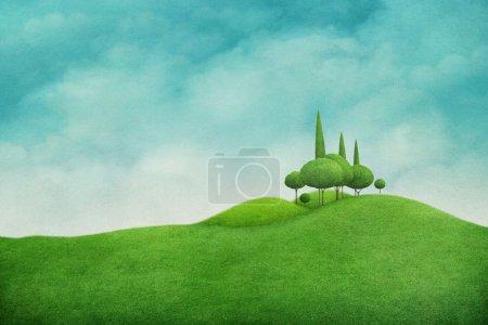 Photo pour Fond printanier avec belle nature pour carte de vœux et illustration - image libre de droit