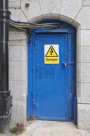 Blue Electric Door