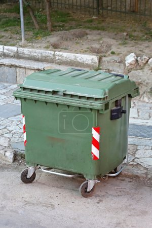 Green Garbage Container