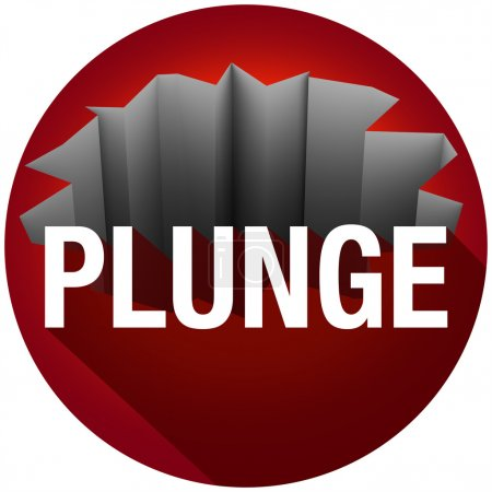 Plunge Word Long Shadow