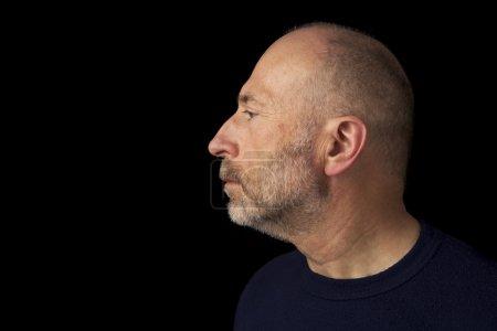 Senior bearded man profile