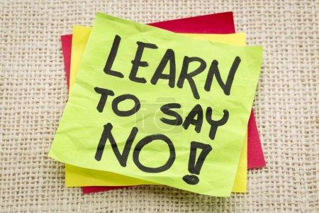 aprender a decir ningún consejo