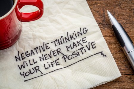 negative thinking and posifitive life