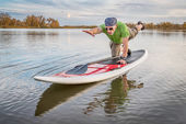 Fitness on stand up paddleboard