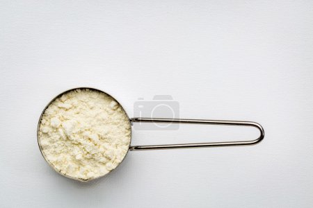 Measuring metal scoop of whey protein powder again...