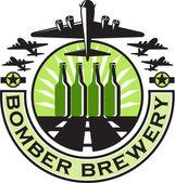 B-17 Heavy Bomber Beer Bottle Brewery Retro
