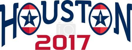 American Football Houston 2017 Word Retro