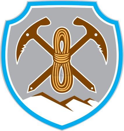 Mountain Climbing Mountaineering Pick Axe Rope
