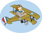 Sopwith Camel Scout Airplane Cartoon