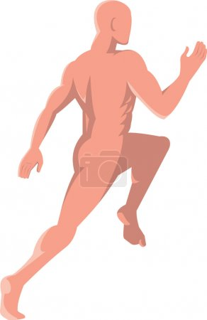 Male human anatomy running