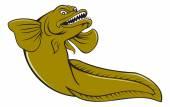 Eelpout Fish Angry Cartoon