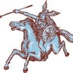 Etching engraving handmade style illustration of v...