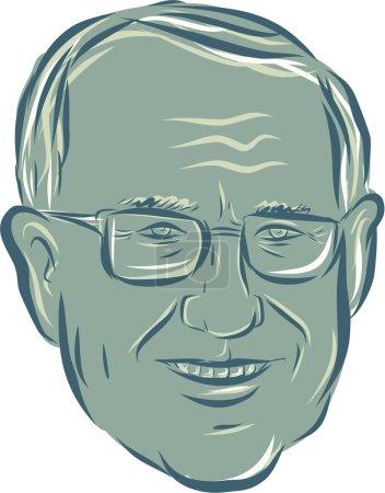 Illustration showing Bernard