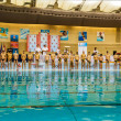 Water polo game competition in swimming pool...