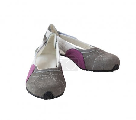 Pair of suede women's shoes