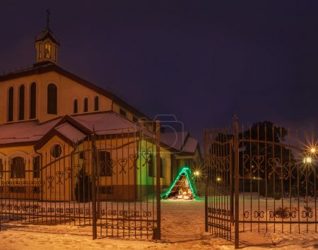 Nativity scene near a church parish