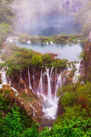 Rainy day in Plitvice national park