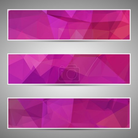 Photo for Abstract geometric triangular banners set eps10 - Royalty Free Image