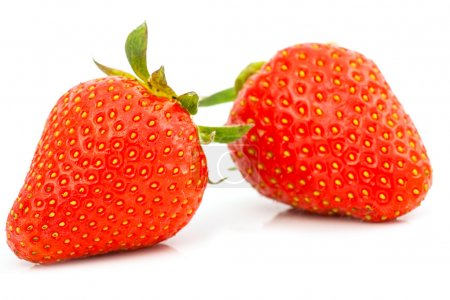 Photo for Strawberries berry isolated on white background - Royalty Free Image
