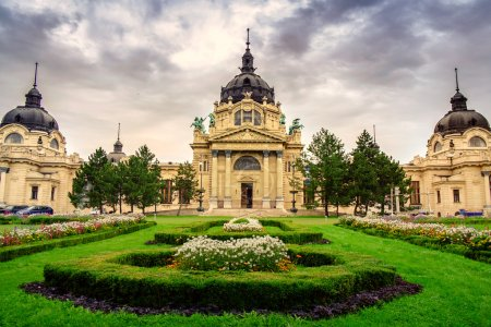 The famous Szechenyi thermal Baths, spa and swimmi...