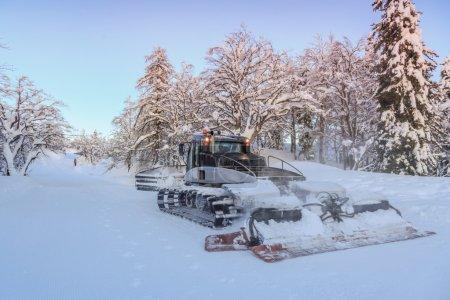 Ski slopes maintenance on the mountains