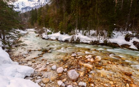 Photo for Mountain river in winter time in Julia Alps- Slovenia - Royalty Free Image