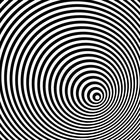 A black and white optical illusion