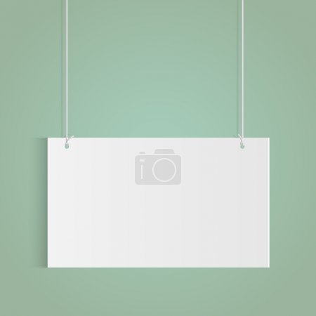 Illustration for Illustration of a hanging sign isolated on a colorful background. - Royalty Free Image