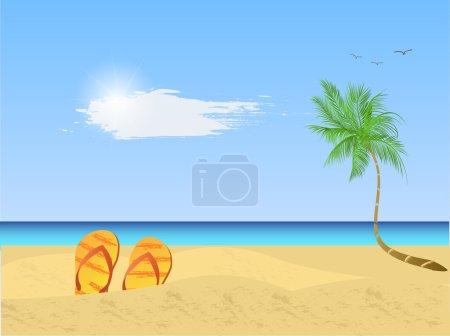 Beach Scene Illustration
