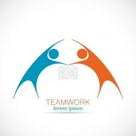 Abstract Teamwork Design Logo