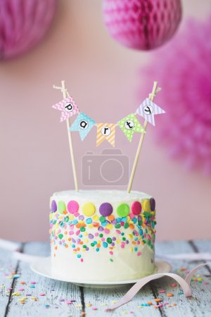 Photo for Cake decorated for a birthday party - Royalty Free Image
