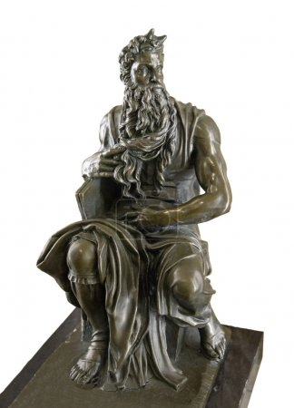 Bronze copy sculpture of  Moses by Michelangelo