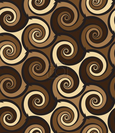 Abstract swirls seamless pattern
