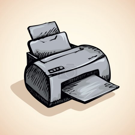 Printer. Vector drawing