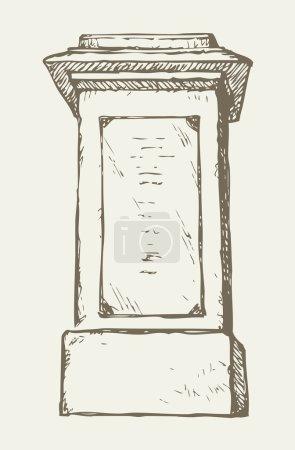 High column. Vector drawing