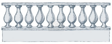 Balustrade. Vector drawing
