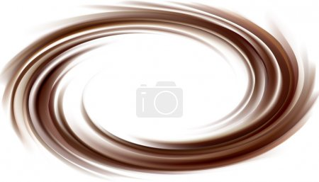 Vector background of swirling dark chocolate texture