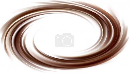 fond de vecteur de tourbillonnante texture chocolat foncé