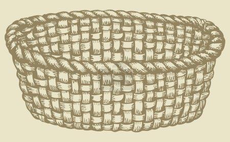 Vector picture. Empty wicker basket