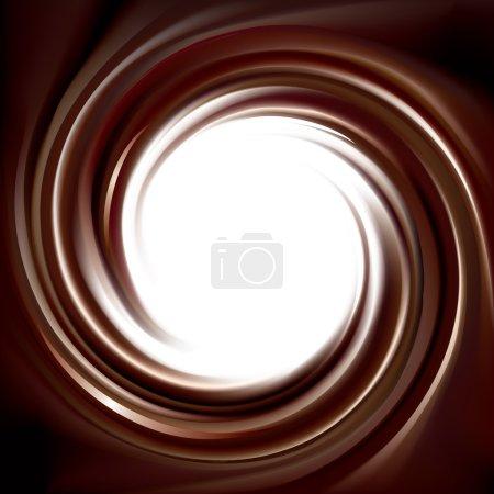 Illustration pour Vecteur merveilleux mélangé fond incurvé ombre profonde. Belle volute fluide choco surface crémeuse avec espace pour le texte dans le centre blanc - image libre de droit