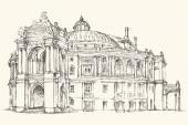 Odessa Theatre of Opera and Ballet Ukraine Vector sketch