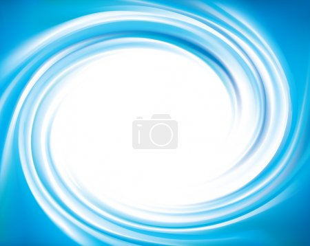 Vector blue swirling backdrop with space for text