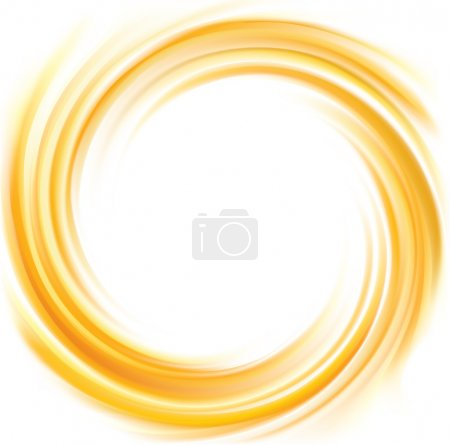 Vector swirling backdrop vivid yellow color