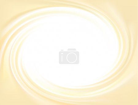 Vector yellow background of swirling creamy texture