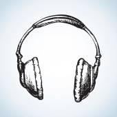Headphones Vector drawing