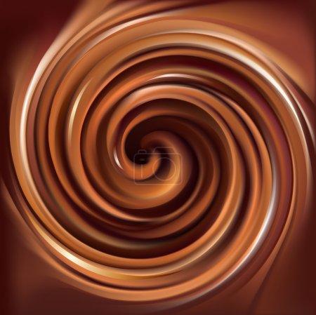 Illustration pour Vecteur doux merveilleux mélangé profond orange curvy fond tourbillonnant avec de l'espace pour le texte. Belle surface crémeuse fluide volute délicieux - image libre de droit