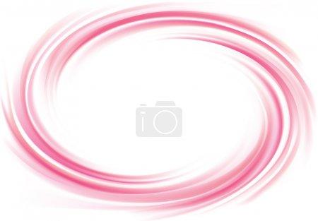 Illustration pour Vecteur art brillant radial ondulé fond courbé. Whirl gel fluide vif rose tourbillon surface de sirop de caramel avec de l'espace pour le texte au centre blanc. Confiture appétissante fruits juteux couleur rose : groseille, fraise - image libre de droit